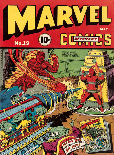Cover for Marvel Mystery Comics (1939 series) #19