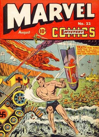 Cover for Marvel Mystery Comics (Marvel, 1939 series) #22