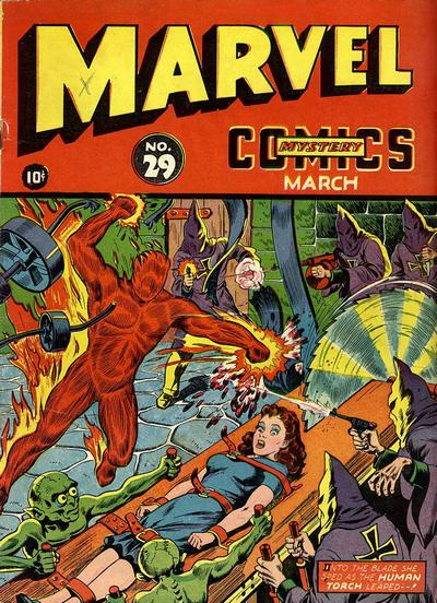 Cover for Marvel Mystery Comics (Marvel, 1939 series) #29