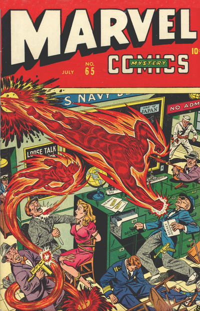 Cover for Marvel Mystery Comics (Marvel, 1939 series) #65