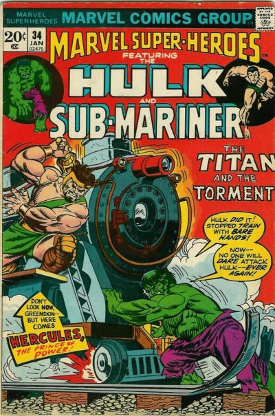 Cover for Marvel Super-Heroes (Marvel, 1967 series) #34