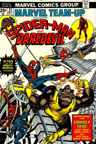 Cover for Marvel Team-Up (Marvel, 1972 series) #25