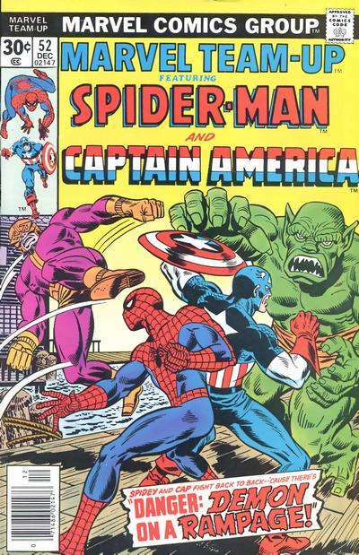 Cover for Marvel Team-Up (Marvel, 1972 series) #52 [British price variant]