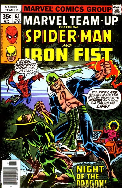 Cover for Marvel Team-Up (Marvel, 1972 series) #63 [British price variant.]