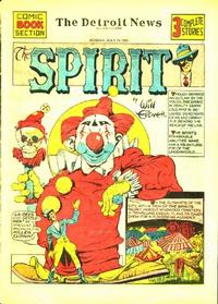 Cover Thumbnail for The Spirit (Register and Tribune Syndicate, 1940 series) #7/28/1940