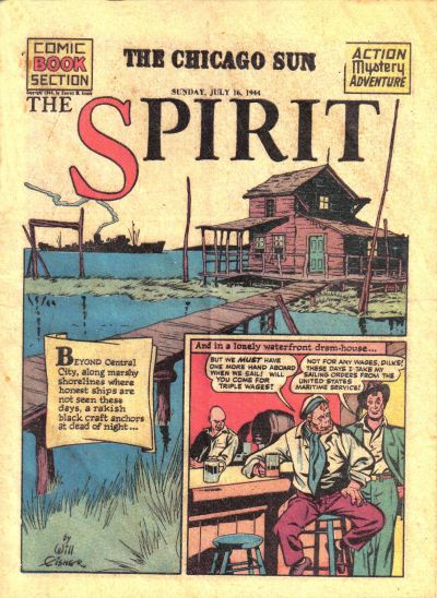 Cover for The Spirit (Register and Tribune Syndicate, 1940 series) #7/16/1944