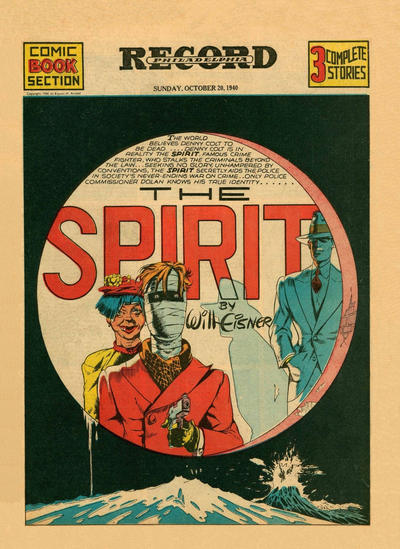 Cover for The Spirit (Register and Tribune Syndicate, 1940 series) #10/20/1940