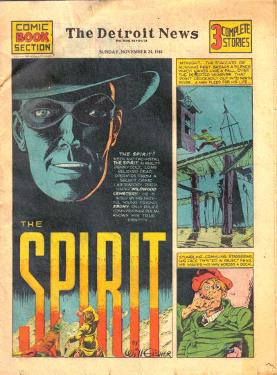 Cover for The Spirit (Register and Tribune Syndicate, 1940 series) #11/24/1940