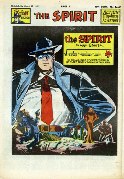 Cover for The Spirit (Register and Tribune Syndicate, 1940 series) #3/12/1950