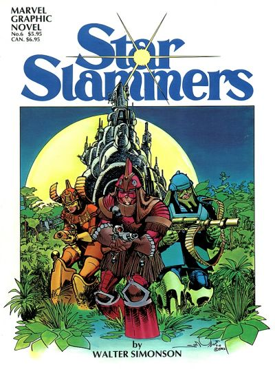 Cover for Marvel Graphic Novel (Marvel, 1982 series) #6 - Star Slammers