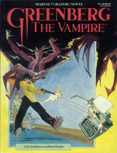Cover for Marvel Graphic Novel (Marvel, 1982 series) #20 - Greenberg the Vampire