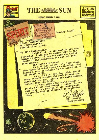 Cover for The Spirit (Register and Tribune Syndicate, 1940 series) #1/7/1951