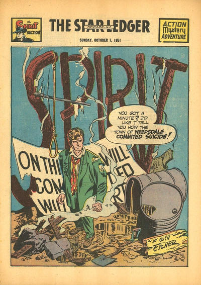 Cover for The Spirit (Register and Tribune Syndicate, 1940 series) #10/7/1951