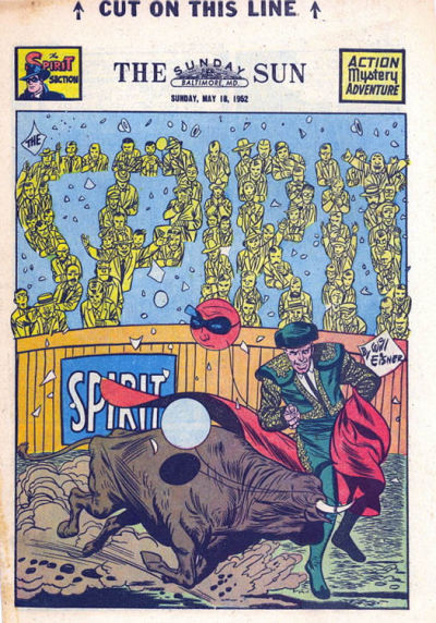 Cover for The Spirit (Register and Tribune Syndicate, 1940 series) #5/18/1952