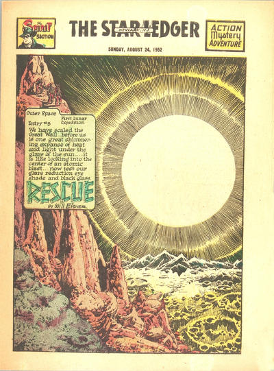 Cover for The Spirit (Register and Tribune Syndicate, 1940 series) #8/24/1952