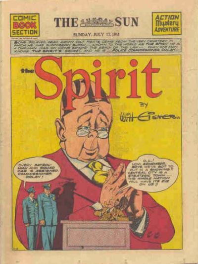 Cover for The Spirit (Register and Tribune Syndicate, 1940 series) #7/13/1941