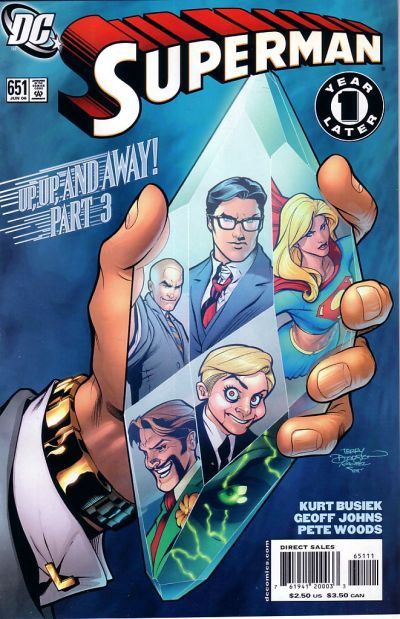 Cover for Superman (DC, 2006 series) #651 [2nd Printing]