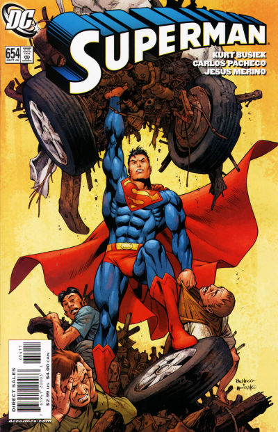 Cover for Superman (DC, 2006 series) #654