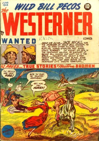 Cover for The Westerner Comics (Orbit-Wanted, 1948 series) #14