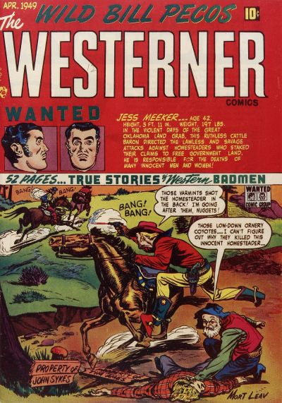 Cover for The Westerner Comics (Orbit-Wanted, 1948 series) #20