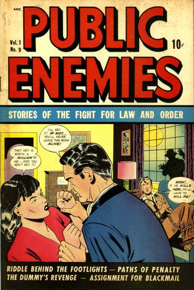 Cover for Public Enemies (D.S. Publishing, 1948 series) #v1#9