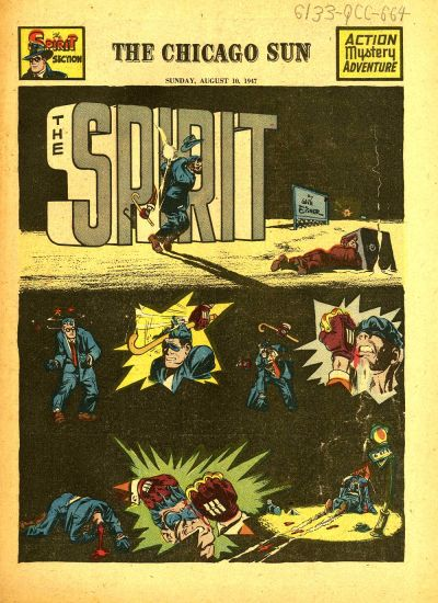 Cover for The Spirit (Register and Tribune Syndicate, 1940 series) #8/10/1947