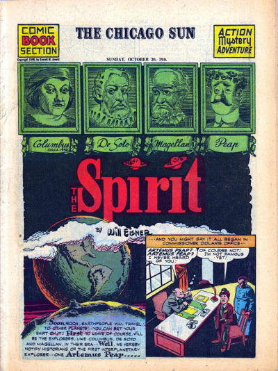 Cover for The Spirit (Register and Tribune Syndicate, 1940 series) #10/20/1946