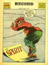 Cover Thumbnail for The Spirit (Register and Tribune Syndicate, 1940 series) #7/1/1945