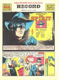 Cover Thumbnail for The Spirit (Register and Tribune Syndicate, 1940 series) #7/5/1942