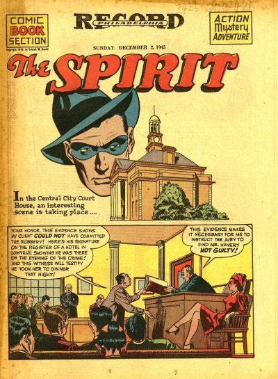 Cover for The Spirit (Register and Tribune Syndicate, 1940 series) #12/2/1945