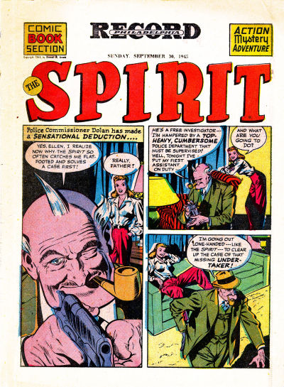 Cover for The Spirit (Register and Tribune Syndicate, 1940 series) #9/30/1945