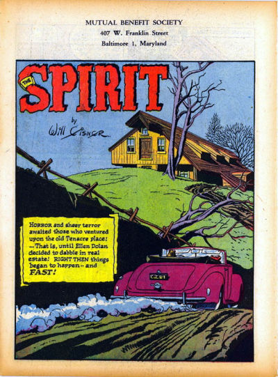 Cover for The Spirit (Register and Tribune Syndicate, 1940 series) #1/7/1945