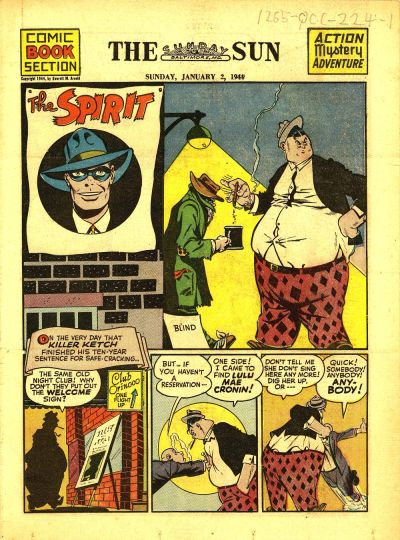 Cover for The Spirit (Register and Tribune Syndicate, 1940 series) #1/2/1944