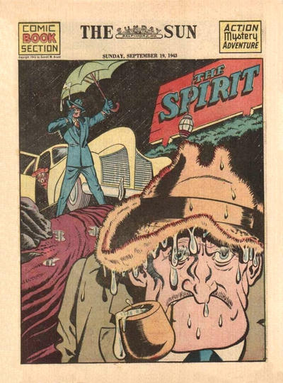 Cover for The Spirit (Register and Tribune Syndicate, 1940 series) #9/19/1943