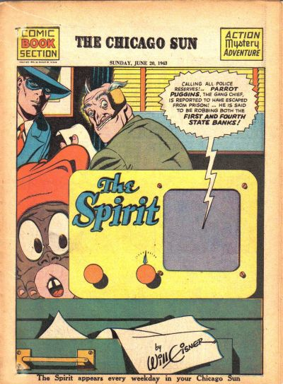 Cover for The Spirit (Register and Tribune Syndicate, 1940 series) #6/20/1943