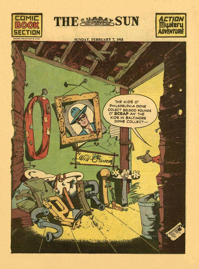 Cover for The Spirit (Register and Tribune Syndicate, 1940 series) #2/7/1943