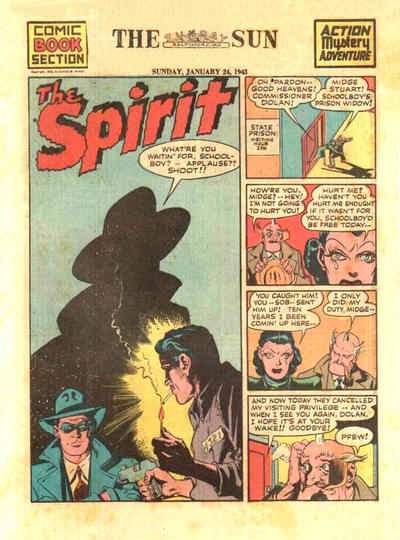 Cover for The Spirit (Register and Tribune Syndicate, 1940 series) #1/24/1943