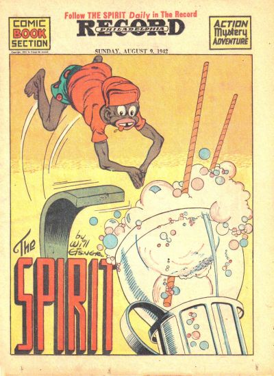Cover for The Spirit (Register and Tribune Syndicate, 1940 series) #8/9/1942