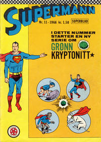Cover Thumbnail for Supermann (Serieforlaget / Se-Bladene / Stabenfeldt, 1966 series) #11/1966