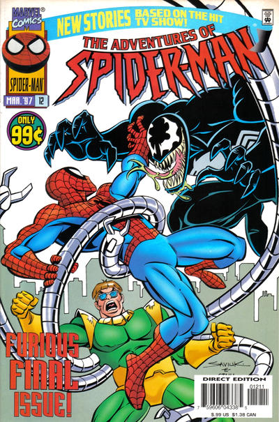 Cover for The Adventures of Spider-Man (1996 series) #12