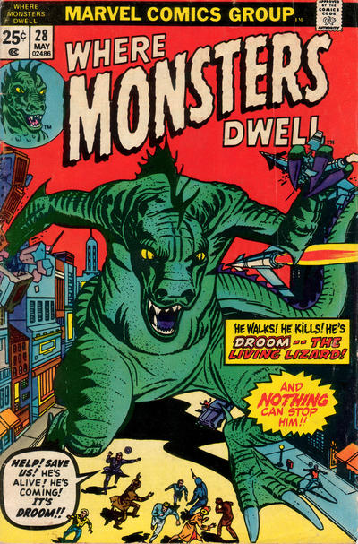Cover for Where Monsters Dwell (Marvel, 1970 series) #28