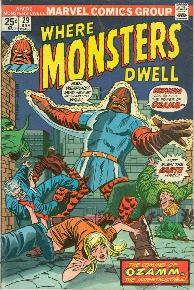 Cover for Where Monsters Dwell (Marvel, 1970 series) #29