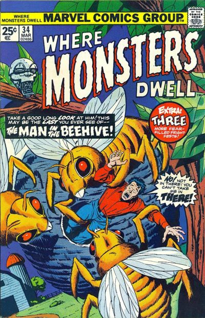 Cover for Where Monsters Dwell (Marvel, 1970 series) #34