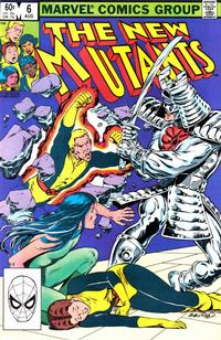 Cover for The New Mutants (Marvel, 1983 series) #6 [Direct Edition]