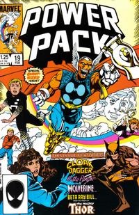 Cover Thumbnail for Power Pack (Marvel, 1984 series) #19 [Direct Edition]