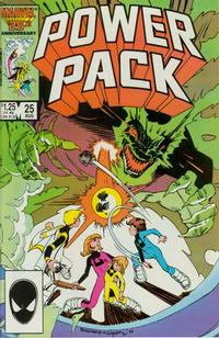 Cover Thumbnail for Power Pack (Marvel, 1984 series) #25 [Direct Edition]