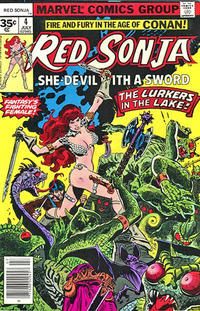 Cover for Red Sonja (Marvel, 1977 series) #4 [30 cent cover]