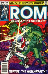 Cover Thumbnail for ROM (Marvel, 1979 series) #16 [Newsstand Edition]