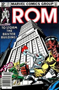 Cover Thumbnail for ROM (Marvel, 1979 series) #23 [Newsstand Edition]