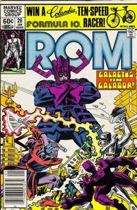 Cover Thumbnail for ROM (Marvel, 1979 series) #26 [Newsstand Edition]